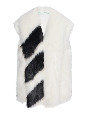 OFF-WHITE C/O VIRGIL ABLOH Fake Fur Stripe Black White