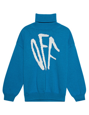 OFF-WHITE C/O VIRGIL ABLOH Turtle Neck Graffiti Blue