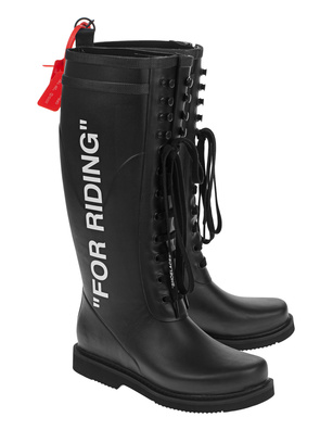 OFF-WHITE C/O VIRGIL ABLOH For Riding Wellington Black