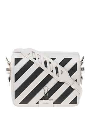 OFF-WHITE C/O VIRGIL ABLOH Diag Flap Bag White