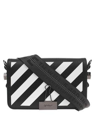 OFF-WHITE C/O VIRGIL ABLOH Diag Mini Flap Bag White Black