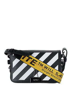 OFF-WHITE C/O VIRGIL ABLOH Diag Mini Flap Bag Black