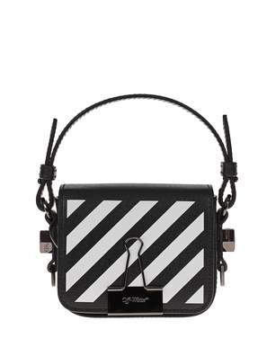 OFF-WHITE C/O VIRGIL ABLOH Diag Baby Flap Bag Black