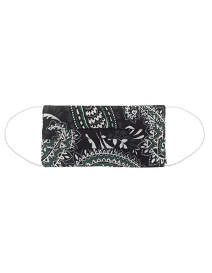 JADICTED Face Mask Silk Paisley Green