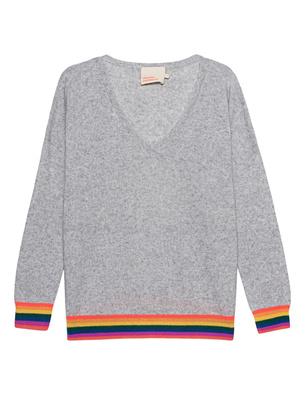 Absolut Cashmere Rainbow Stripes Cashmere Grey