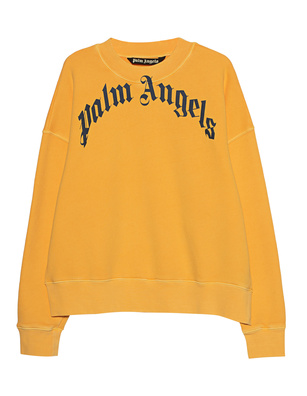 Palm Angels Vintage Wash Curved Logo Yellow