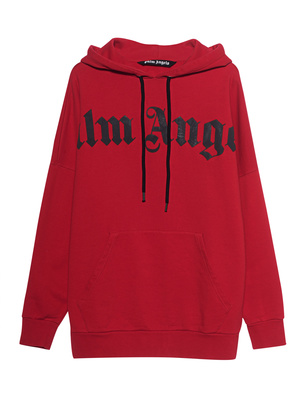 Palm Angels Hoodie Front Logo Red