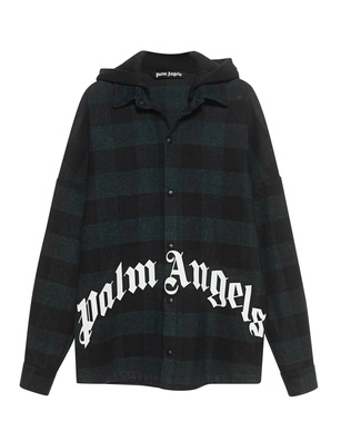 Palm Angels Logo Overshirt Forest Green