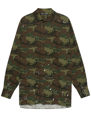 Palm Angels Camo Loose Oliv