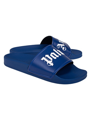 Palm Angels Slide Pool Blue