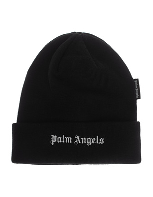 Palm Angels Logo Beanie Black