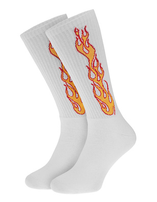 Palm Angels Flames White
