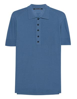 HANNES ROETHER Polo Prego Splash Blue