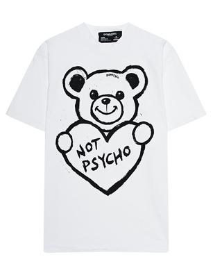 DOM REBEL Boxy Psycho Bear White