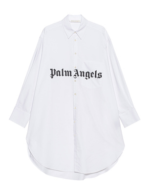 Palm Angels Wording Oversize White