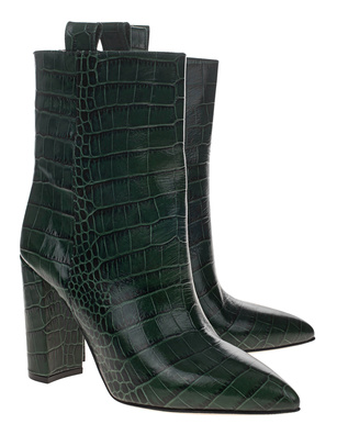 PARIS TEXAS Croco Boot Green