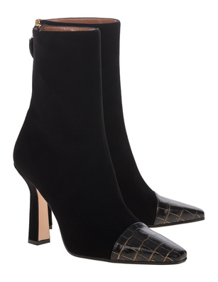 PARIS TEXAS Squared Toe Black
