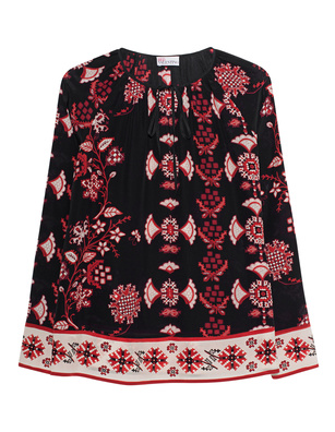 RED VALENTINO Silk Pattern Multicolor