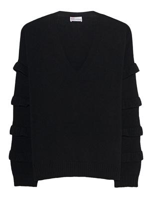 RED VALENTINO Flounces Wool Black
