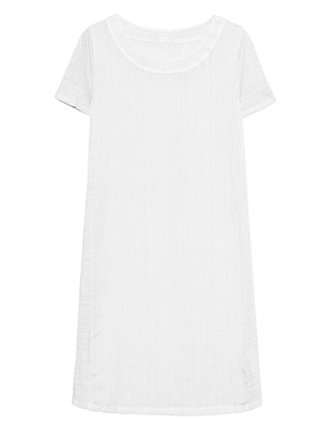 120% LINO Shirt Dress Bianco White
