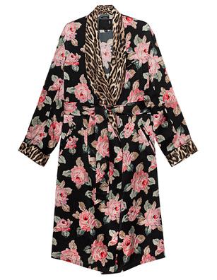 R13 Smoking Robe Floral Black
