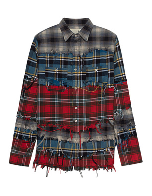R13 Pieced Shirt Blue