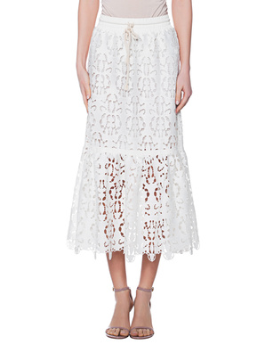 SEE BY CHLOÉ Midi Cut Out Embroidery White