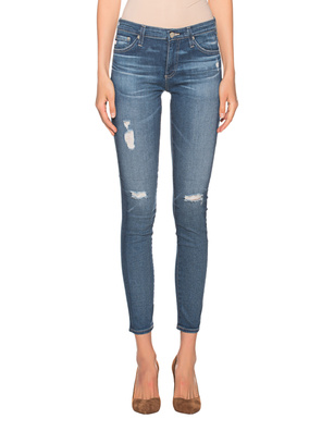 AG Jeans The Legging Ankle Destroyed Blue