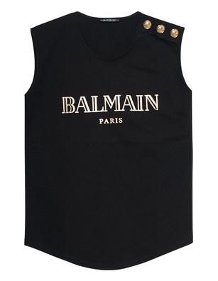 BALMAIN Shoulder Button Tank Black