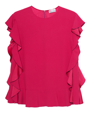 RED VALENTINO Ruffles Volant Pink
