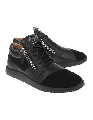 GIUSEPPE ZANOTTI Runner Leather Black