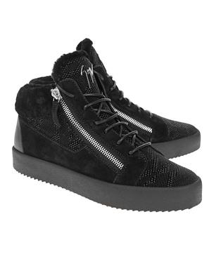 GIUSEPPE ZANOTTI May London Scisspors Croco Fur Black