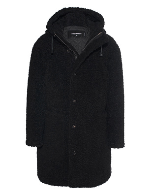 DSQUARED2 Hooded Faux Fur Black