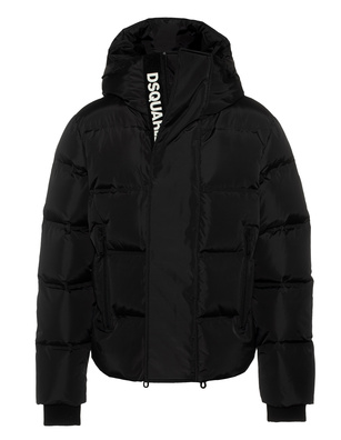 DSQUARED2 Down Hood Logo Zip Black