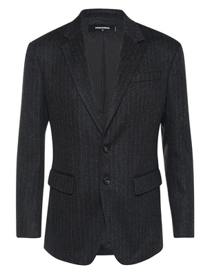 DSQUARED2 Pinstripe Wool Anthracite