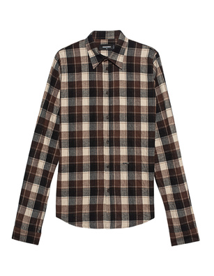 DSQUARED2 Checked Cotton Brown