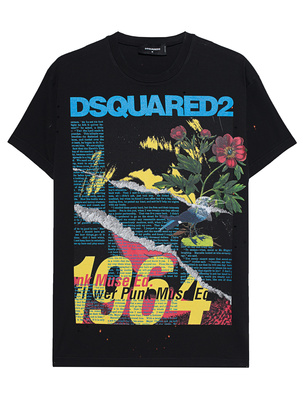 DSQUARED2 1964 Poem Print Black