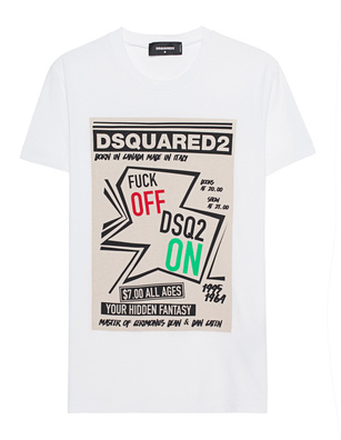 DSQUARED2 Print Fuck Off White