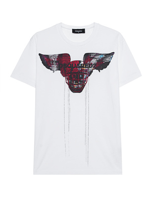 DSQUARED2 Skull Wings White