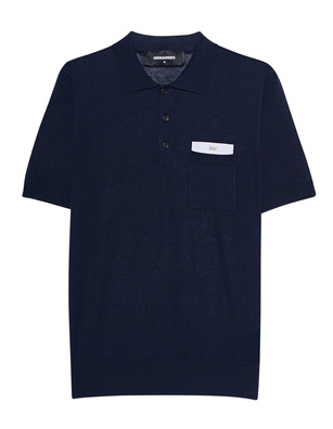 DSQUARED2 Polo Pocket Navy