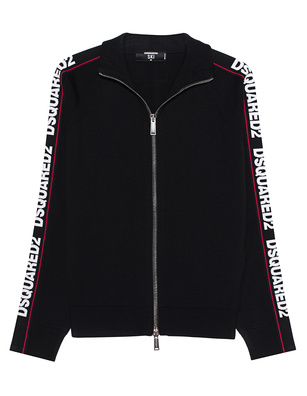 DSQUARED2 Sweat Jacket Striped Black
