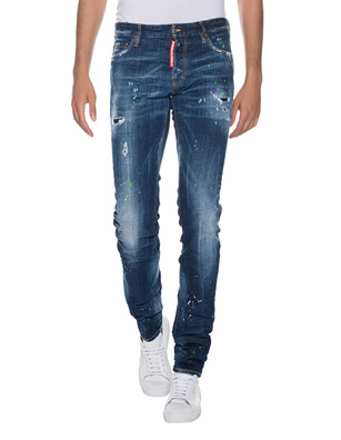 DSQUARED2 Slim Jean Paint Blue