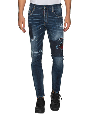 DSQUARED2 Skater Canadian Checked Blue