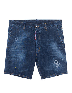 DSQUARED2 Marine Destroyed Short Blue