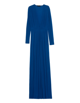 DSQUARED2 Long Dress Deep V Blue