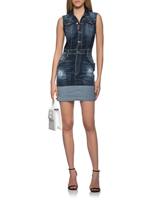 DSQUARED2 Destroyed Denim Blue