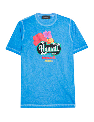 DSQUARED2 Hawaii Print Blue