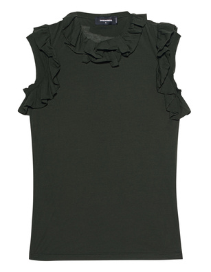 DSQUARED2 Ruffles Dark Green