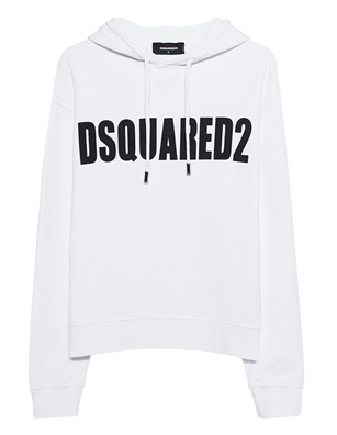 DSQUARED2 Logo Hoodie White