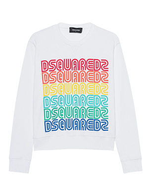 DSQUARED2 Logo Sweater Rainbow White